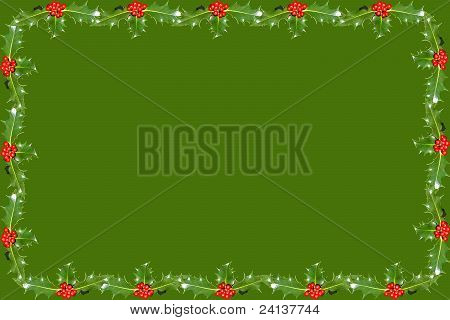 Holly leaf background