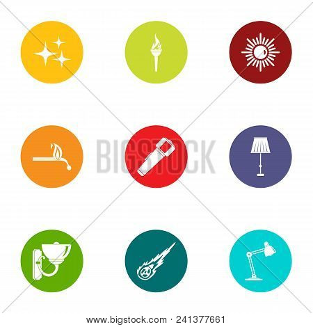 Home Furnishings Icons Set. Flat Set Of 9 Home Furnishings Vector Icons For Web Isolated On White Ba