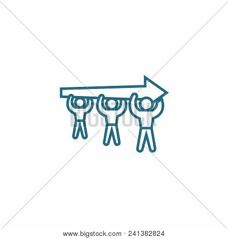 Aspiration For A Common Goal Line Icon, Vector Illustration. Aspiration For A Common Goal Linear Con