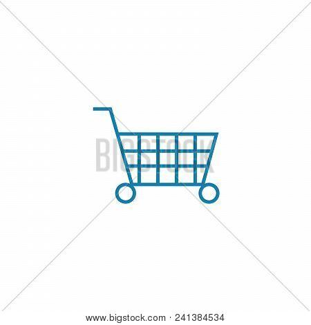 Big Purchase Line Icon, Vector Illustration. Big Purchase Linear Concept Sign.