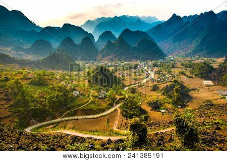 Ha Giang, North Extreme Loop, North Vietnam, The Northern Loop, With Rice Fields, Beautuful Scenery,