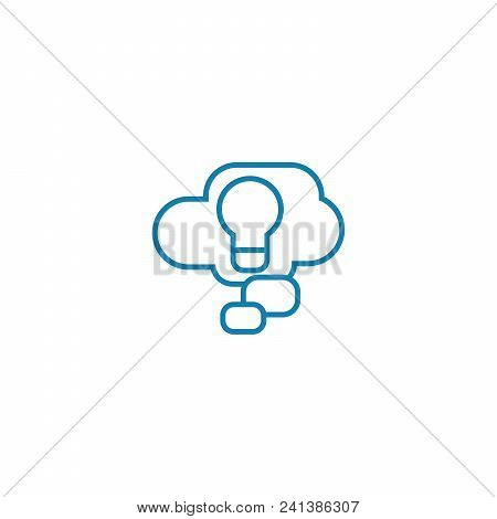 Business Project Line Icon, Vector Illustration. Business Project Linear Concept Sign.