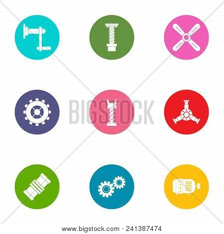 Pinion Icons Set. Flat Set Of 9 Pinion Vector Icons For Web Isolated On White Background