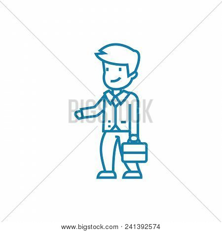 Cooperation Offer Line Icon, Vector Illustration. Cooperation Offer Linear Concept Sign.