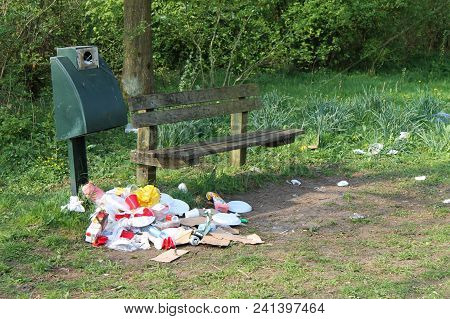 Nature Used As A Large Garbage Bin.