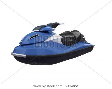 Jetski Blue Isolated Front View