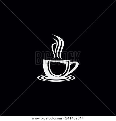 Coffee Shop Logo Vector Illustration. Espresso Coffee Icon Symbol. Espresso Coffee Sign. Coffee Shop