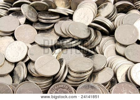 Stacks of Money on a white Background