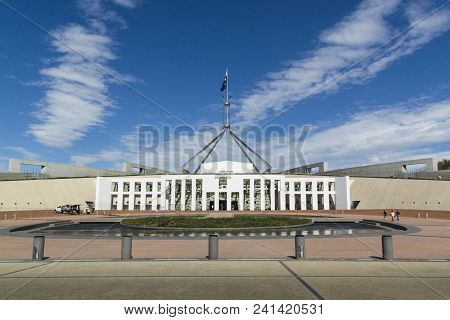Canberra, Australian Capital Territory, Australia, 11th April 2018 - Main Entrance To The New Parlia