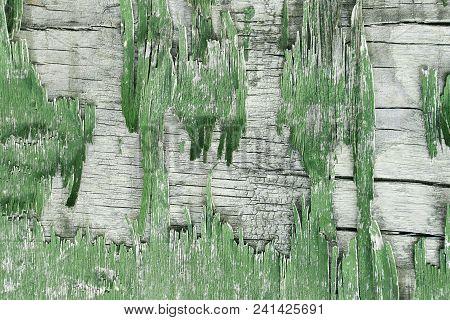Wooden Wall With Peeling Paint. Paint Peeling Plaster Walls