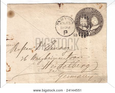 Usa 1893:a Cover Printed In Cuba Shows Image Of Columb, Circa 1893.