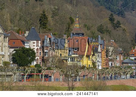 Gorgeous Cityscape View On March 31, 2018 In Heidelberg, Baden- Wurttemberg, Germany.