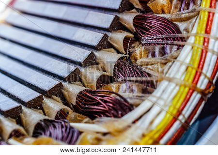 Electric Motor Stator With Winding Coil , View Of Inside Of Electric Motor.