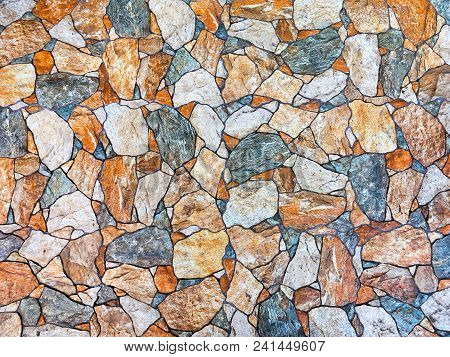 Wall Of Natural Stone As Textured Background