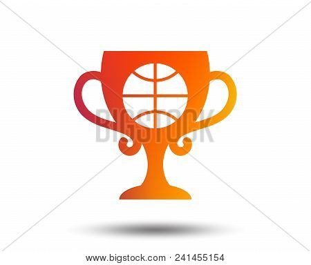 Basketball Sign Icon. Sport Symbol. Winner Award Cup. Blurred Gradient Design Element. Vivid Graphic