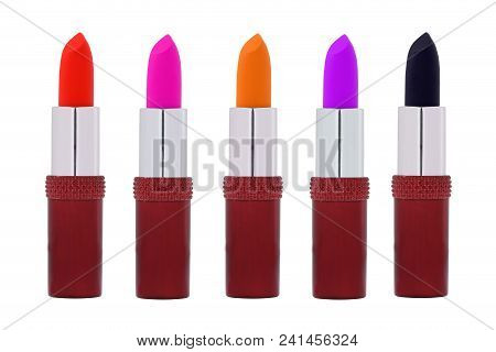 Set Of Color Lipsticks. Red Lipstick, Pink Lipstick, Orange Lipstick, Wine Lipstick.red Lipstick Set