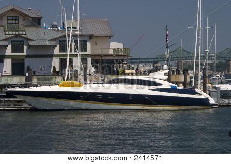Large Sleek Luxury Yacht