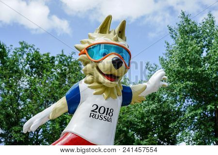 Rostov-on-don, Russia - May, 2017 The Official Mascot Of The 2018 Fifa World Cup And The Fifa Confed