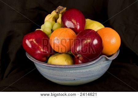 Bowl Of Fruit Over Black