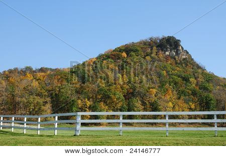 Bluff along Mississippi River in Wisconsin
