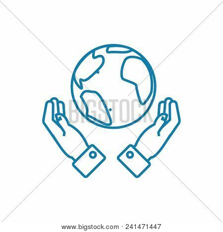 Global Opportunities Line Icon, Vector Illustration. Global Opportunities Linear Concept Sign.