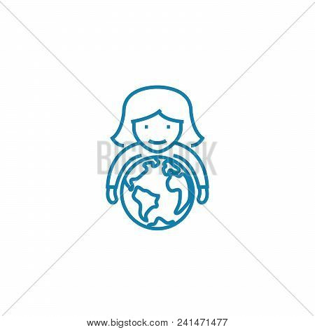 Global Perspectives Line Icon, Vector Illustration. Global Perspectives Linear Concept Sign.