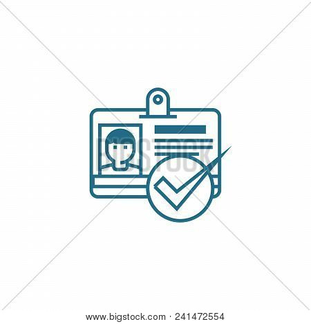 Hiring Of Staff Line Icon, Vector Illustration. Hiring Of Staff Linear Concept Sign.