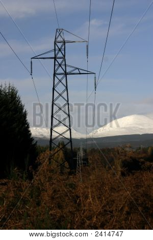 Pylons In The Scottish Highlands