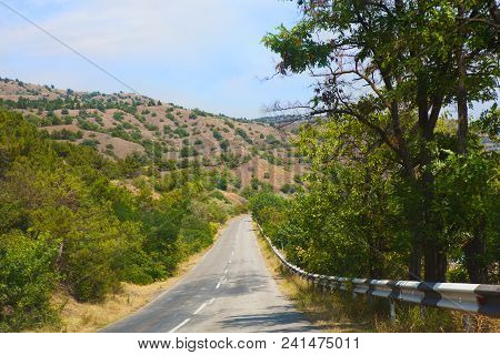 Crimea The Twisting Highway In The Mountain District Photo