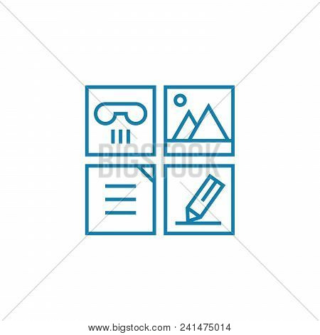 Job Responsibilities Line Icon, Vector Illustration. Job Responsibilities Linear Concept Sign.