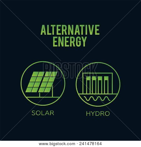 Generation Energy Types. Renewable Alternative, Solar And Tidal, Wind And Geothermal. Renewable Ener