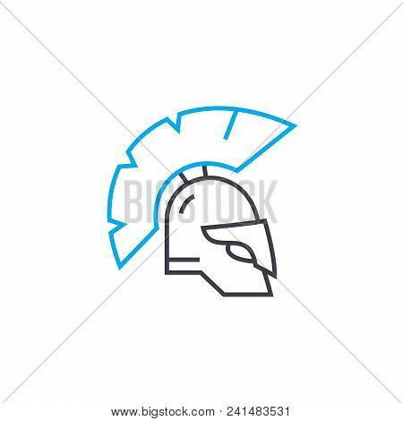 Knight Armour Line Icon, Vector Illustration. Knight Armour Linear Concept Sign.