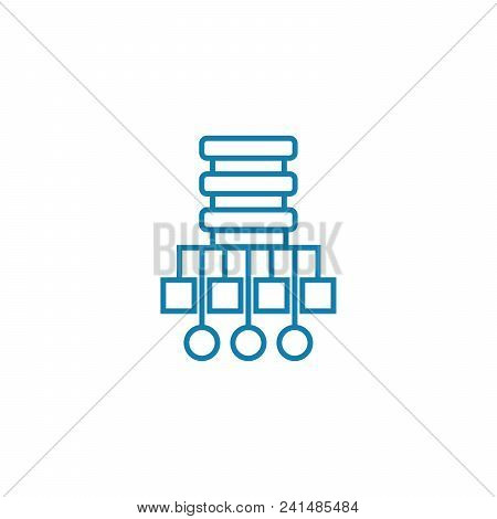 Network Structure Line Icon, Vector Illustration. Network Structure Linear Concept Sign.