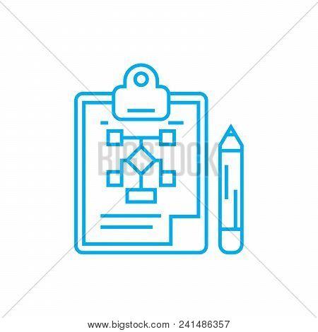 Organizational Structure Development Line Icon, Vector Illustration. Organizational Structure Develo