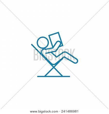 Passive Rest Line Icon, Vector Illustration. Passive Rest Linear Concept Sign.