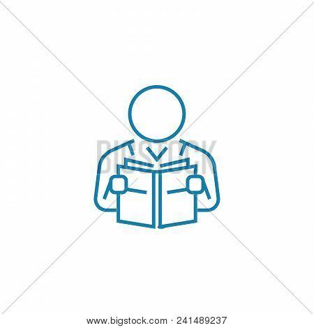 Professional Development Line Icon, Vector Illustration. Professional Development Linear Concept Sig