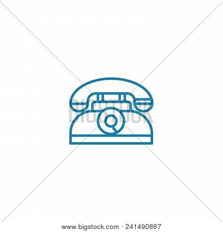 Retro Devices Line Icon, Vector Illustration. Retro Devices Linear Concept Sign.