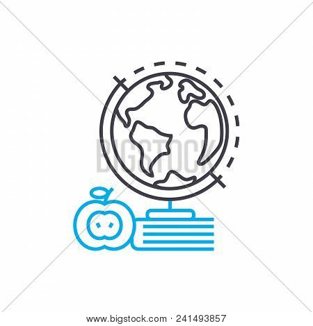 Study Of Natural Sciences Line Icon, Vector Illustration. Study Of Natural Sciences Linear Concept S