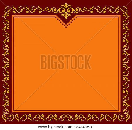 Beautiful vintage background with retro ornament. Vector