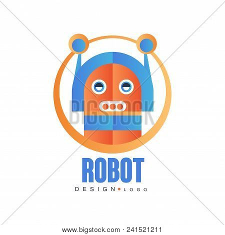 Robot Logo, Artificial Intelligence, Badge For Company Identity, Technology Or Computer Related Serv