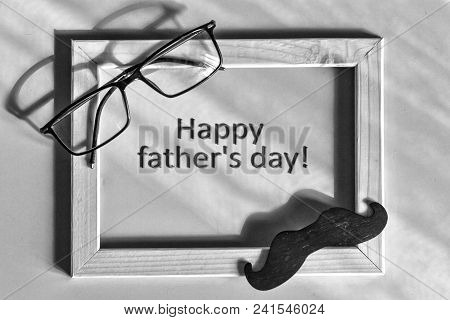 Black And White. Fathers Day. Best Father. Child And Father Concept. Happy Fathers Day Text. Gift, H