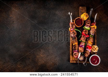 Veggie And Beef Shish Kebab