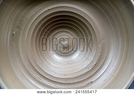 Potter's Wheel With Clay Close