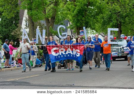 West Saint Paul, Mn/usa - May 19, 2018: Supporters Of Minnesota Congressional Candidate Angie Craig