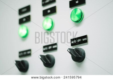 Electric Control Box Contain Buttons And Display Of Electrical System Status.