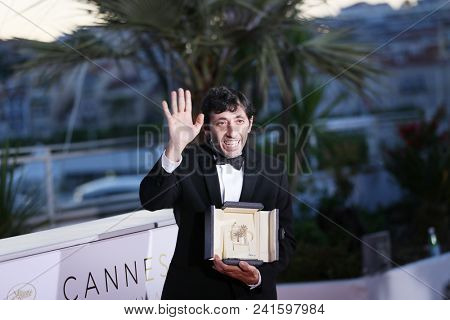 Actor Marcello Fonte attends the photocall the Palme D'Or Winner during the 71st Cannes Film Festival at Palais on May 19, 2018 in Cannes, France.