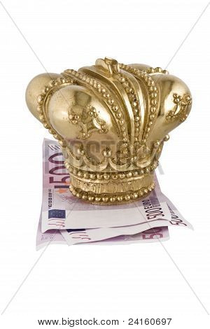 Crown on money