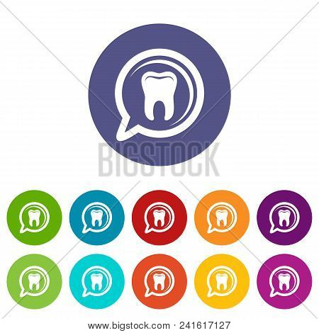 Explore Tooth Icon. Simple Illustration Of Explore Tooth Vector Icon For Web