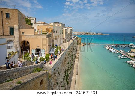 Otranto, Italy - 6.05.2018: View Of Small Town Otranto, Province Of Lecce In The Salento Peninsula,