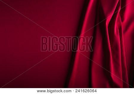 Red Shiny Satin